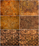 Rust texture as metal plate background Royalty Free Stock Photos