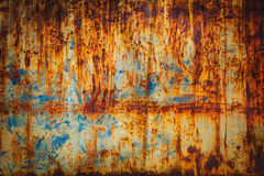 Rust texture. Blue painted metal with rust texture royalty free stock photography