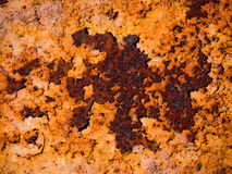 Rust Texture. On brown and yellow background Stock Photography