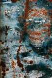 Rust texture. Colorful Rusty old scratched metal textured backgr Stock Photo