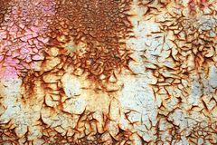Rust texture on metal Stock Image