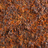 Rust texture. On metal plate Stock Image