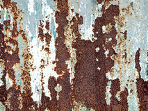Rust texture on the metal plate background Stock Images