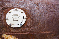 Rust texture on Oil cap Stock Images