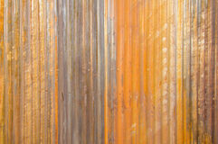 Rust texture zinc wall for background Royalty Free Stock Photos