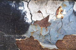 Rust textured on metal surface Royalty Free Stock Image