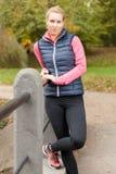 Rust tijdens jogging Royalty-vrije Stock Afbeeldingen