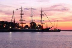 Rust vóór regatami de Oostzee 2009 Royalty-vrije Stock Afbeeldingen