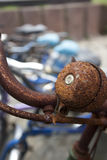 Rust vintage bicycle bell Stock Images