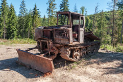 Rust vintage tractor Royalty Free Stock Images