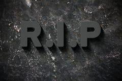 Rust in Vrede (RIP) stock illustratie