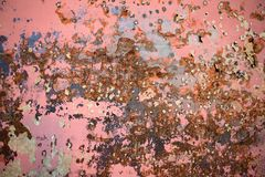 Rust from wall of old ship royalty free stock images