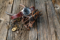 Rust watch gear Royalty Free Stock Image