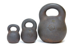 Rust weights Royalty Free Stock Image