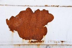 Rust on white door Stock Photos
