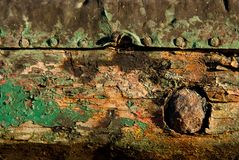 Rust and wood texture Stock Images