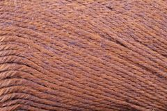 Rust Yarn Texture Close Up Royalty Free Stock Images