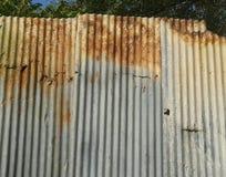 Rust zinc fence Stock Photos