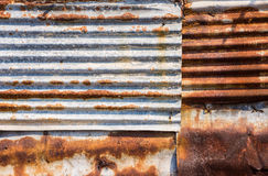Rust zinc plate Royalty Free Stock Images