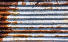 Rust zinc plate Stock Image