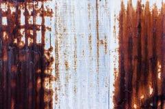 Rust zinc plate Royalty Free Stock Image