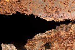 A rust on zinc wall Royalty Free Stock Photos