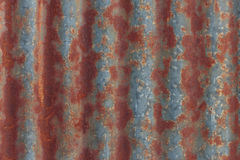 Rust on zinc wall. Background Royalty Free Stock Images