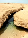 Сrustal fault. Reserve of Ras Mohamed. Egypt Royalty Free Stock Photography