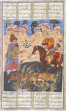 Rustam убивает Suhrâb Стоковые Изображения RF