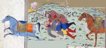 Rustam убивает Suhrâb стоковое изображение rf