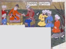 Rustam dödar Suhrâb Arkivfoton