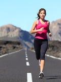 rustande running kvinna Fotografering för Bildbyråer