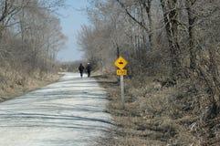 rustande trail Arkivbilder