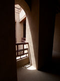 Rustaq Fort. Beautiful natural lighting abounds inside Rustaq Fort, Western Hajar, Oman Stock Images