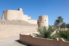Rustaq fort i Oman Arkivbild
