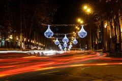Rustaveli Avenue in Tbilisi Stock Photo