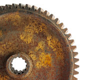 Rusted成了锯齿状轮子 库存照片