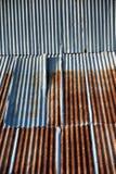 Rusted的样式镀锌了铁板材,老生锈的锌板材r 图库摄影