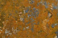 Rusted起了水泡油漆被构造的背景 库存照片
