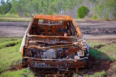 Rusted Abandoned Car Wreck Stock Photos