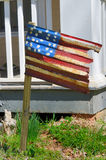 Rusted American Flag. On a residential lawn Stock Photos