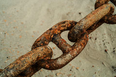 Rusted anchor chains Royalty Free Stock Photography