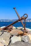 Rusted Anchor Monument Royalty Free Stock Photos