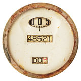 Rusted ancient speedometer isolated on white Stock Image