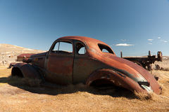Rusted automobile in Bodie State Park Stock Photos