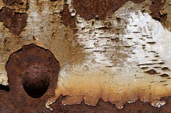 The rusted background. Stock Photo