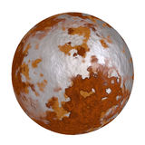 Rust ball iron sphere rustic textures Stock Image