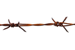 Rusted barbed wire Royalty Free Stock Photography