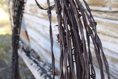 Rusted Barbed Wire Stock Photography