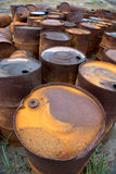 Rusted barrels on the shore. Rusted barrels on the shore, Chukotka, Russia Royalty Free Stock Images